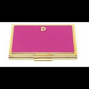"NWT Kate Spade/Lenox Card Holder initial ""D"""